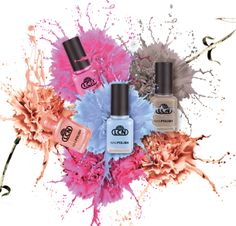 "Nail Polish ""nature poetry"" Die LCN Trendfarben für den Frühling 2014: (- 388) pink butterfly, (- 389) pebble stone, (- 390)"