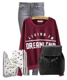 """""""Untitled #11180"""" by nanette-253 ❤ liked on Polyvore featuring GUESS, Keds and MANGO"""