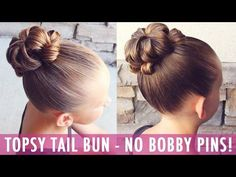 How to : Flip Through Bun | Brown Haired Bliss This bun is genius! It is SO easy to do and it only requires two things...an elastic and a Topsy Tail!! What?!...