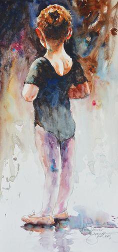 ☆ Le dos d'une petite danseuse de l'artiste Bev Jozwiak ☆ On sent dans cette oeuvre la force de cette enfant teintée d'hésitation.