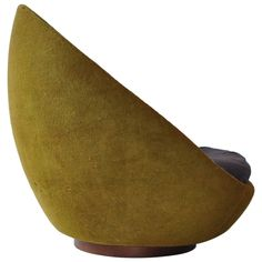 Rare Large-Scale Milo Baughman Swivel Chair | From a unique collection of antique and modern lounge chairs at…