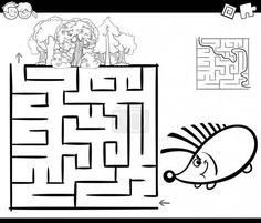 Creative Image of Hedgehog Coloring Page . Hedgehog Coloring Page Maze With Hedgehog Coloring Page Royalty Free Vector Image Free Printable Coloring Pages, Coloring Book Pages, Coloring Pages For Kids, Silver The Hedgehog, Shadow The Hedgehog, Hedgehog Colors, Mazes For Kids, Coloring Pages Inspirational, Sonic And Shadow