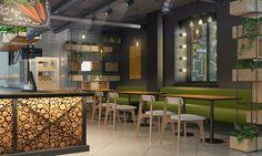 Дизайн кафе в эко стиле #cafe #eco #design #эко_стиль #3d #дизайн_кафе