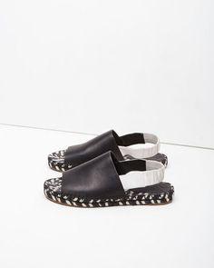 Proenza Schouler | Leather Slingback Espadrille | La Garçonne