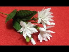 How to Make Jasmine Crepe Paper Flowers - Flower Making of Crepe Paper - Paper Flower Tutorial - YouTube