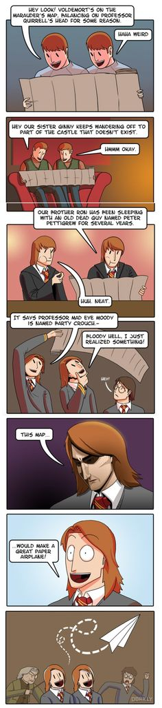 Funny pictures about Why The Weasley Twins Are The Dumbest Characters In Harry Potter. Oh, and cool pics about Why The Weasley Twins Are The Dumbest Characters In Harry Potter. Also, Why The Weasley Twins Are The Dumbest Characters In Harry Potter photos. Harry Potter Comics, Harry Potter Jokes, Harry Potter World, Harry Potter Real Name, Estilo Harry Potter, Weasley Twins, Ginny Weasley, Yer A Wizard Harry, Drarry