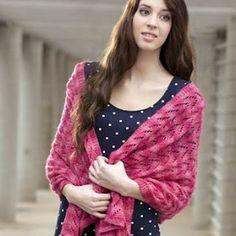 Give lace knitting a try - Lace Shawl Free Knitting Pattern