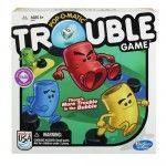 Trouble Game- Move around the board randomly and knock opponents back to their starting position