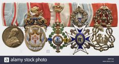 Prince Alfons of Bavaria (1862 - 1933), a five-piece grand orders bar Jubilee Medal for the Order of St. George 1889 in gilt si