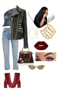 """Untitled #329"" by sierralynna on Polyvore featuring Romeo Gigli, Gucci, Petar Petrov, LOFT, Fendi, Nadri, Lime Crime and Cartier"
