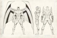 Official Handbook of the Marvel Universe: Master Edition.  Archangel Comic Art