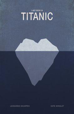 Titanic Minimalist Movie Poster by WestGraphics on Etsy