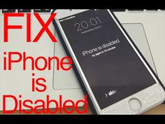 Your iPhone is Disabled - Here's how to Fix it! Enable iPhone 7 6 6S 6 Plus 5S 5C SE 4S - YouTube