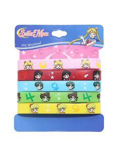 Sailor Moon Chibi Sailor Scouts Rubber Bracelet 5 Pack,