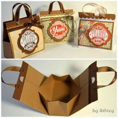 Bolsos de cartón para recuerdos de fiesta. Tutorial.