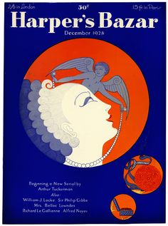 Harper's Bazaar 1928. Cover art by Erte