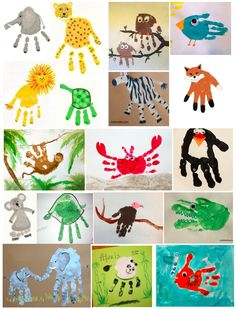 Handprints, endangered species art and craft ideas, kids art and craft, teaching kids endangered species Animal Crafts For Kids, Animals For Kids, Art For Kids, Bible School Crafts, Fathers Day Crafts, Toddler Art, Toddler Crafts, Hand Print Animals, Hand Kunst