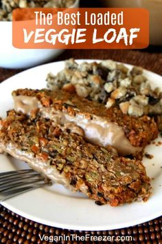 The Best Vegan Meatloaf Recipe is loaded with a great combination of chickpeas, mushrooms and more. A super dinner for holidays & also for special weekends. Vegetarian Meatloaf, Vegetarian Recipes Dinner, Meatloaf Recipes, Delicious Vegan Recipes, Vegan Dinners, Raw Food Recipes, Amish Recipes, Dutch Recipes, Shrimp Recipes