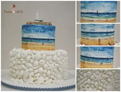 Isla+de+Mouro+viewed+from+the+beach+-+Cake+by+Ponona+Cakes+-+Elena+Ballesteros