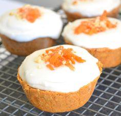 Cupcakes de zanahoria sin gluten.