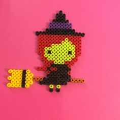 Witch - Halloween hama beads by pois_pois_pois_