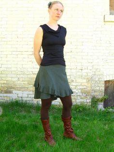 Short Ruffled Wrap Skirt