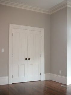 Benjamin Moore Light Pewter. We finally agree on a color for our new bedroom!