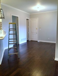 Benjamin Moore Silver Satin Living Room Paint Color In