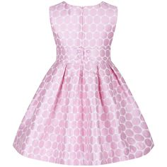 Girl's Pink Circle Print Dress with Bow Detailing. Available now at www.chocolateclothing.co.uk