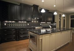 black kitchen cabinets images Black Kitchen Cabinets Design Ideas