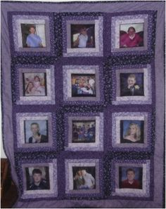 Photo Memory Quilt by DeeCsDesigns on Etsy, $175.00