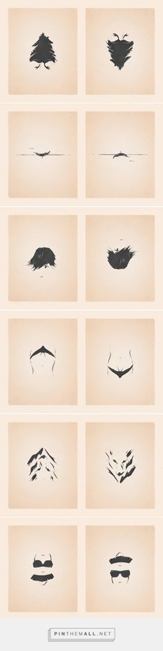 patrik svensson's flippable drawings show two sides of the same story... - a grouped images picture - Pin Them All