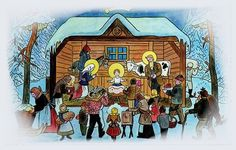 We were browsing online for vintage and old Czech Christmas cards and postcards from then called Czechoslovakia (now the Czech Republic) and we found so many that we decided to share the best ones here with you. Christmas Music, Winter Christmas, Winter Holidays, Christmas Decor, Xmas, Advent, Vintage Christmas Cards, Holiday Cards, Winter Scenes
