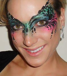 Eye Dare You Adult Facepainting Gallery 1 Eye Face Painting, Mask Face Paint, Adult Face Painting, Face Paint Makeup, Face Painting Designs, Face Art, Face Paintings, Clown Makeup, Costume Makeup
