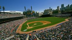 Comerica Park--new Tiger Stadium, co-opted by corporate America. It's a nice place, anyway. Great picture by Chris Arace. Check out his series of ballpark photos!