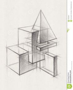 geometric form drawing - Google Search