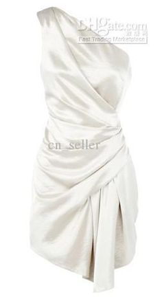Wholesale Satin Dress - Buy Stretch Satin Dress Sexy Chalaza on One Shoulder Loose Ruffle Style Texture Silky, $119.32   DHgate