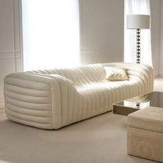 white cream modern sofa for contemporary living room design