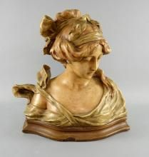 Art Nouveau bust of a lady