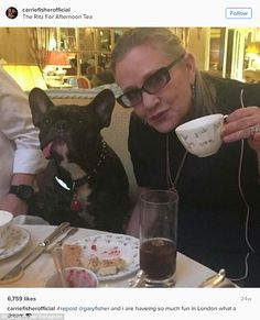 New zip code: Carrie Fisher had bought a home in London where she had hoped to settle in, a source told Entertainment Tonight on Wednesday. Here she is seen this summer in London