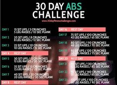 Try our Ab challenge this month A variety of #exercises to work, tone & define your abs >
