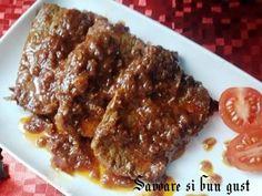 Friptura inabusita din carne de vițel Romanian Food, Carne, Steak, Pork, Beef, Pork Roulade, Pigs, Steaks, Pork Chops