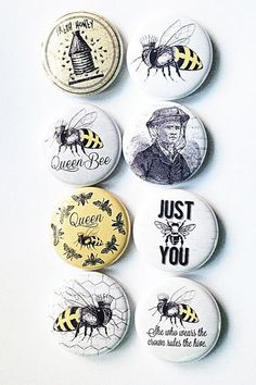 These are one inch flair buttons. There are 8 buttons in this set.