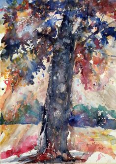 ARTFINDER: Autumn by Kovács Anna Brigitta - Original watercolour painting on high quality watercolour paper. I love landscapes, still life, nature and wildlife, lights and shadows, colorful sight. Thes...