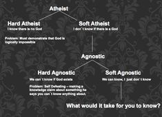 The Atheist Chart - Most atheists here on Pinterest seem to be hardline, judging by their rudeness in defending their theory of evolution.