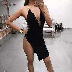 14.34$  Watch here - 2016 new sexy Women dress Sleeveless Metal Sling Split red Bodycon dress Celebrity Evening Party dress Fold v-neck Bandage Dress   #magazineonlinewebsite
