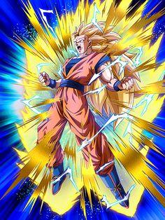 [Stunning Metamorphosis] Goku/Dragon Ball Z: Dokkan Battle Dragon Ball Gt, Blue Dragon, Fairytail, Super Saiyan 3, Manga Dragon, Ssj3, Fan Art, Anime Art, Manga Anime