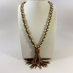 Beaded Tassel Necklace with Freshwater  Baroque Pearls - Gorgeous  MADE TO ORDER