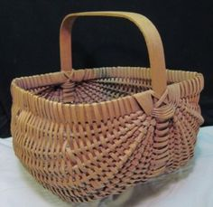 wood splint egg gathering basket