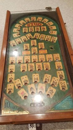 Antique 5 Card Stud Mechanical Pinball Game | eBay